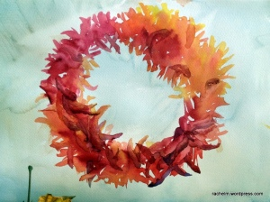 Chile wreath #2 in progress_rachel_murphree_watercolor