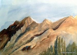 Franklin_Mountains_plein_air_rachel_murphree_watercolor_sm