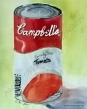 watercolor of campbells soup can