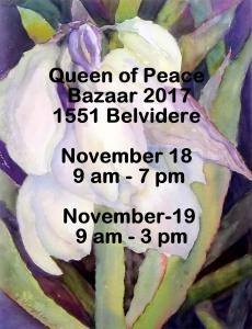 Queen of Peace Bazaar November 18-19
